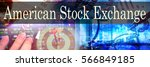 Small photo of American Stock Exchange - Hand writing word to represent the meaning of financial word as concept. A word American Stock Exchange is a part of Investment&Wealth management in stock photo.