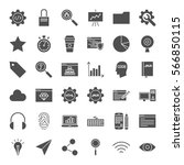 web development solid icons.... | Shutterstock .eps vector #566850115