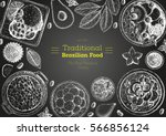 brazilian cuisine top view... | Shutterstock .eps vector #566856124
