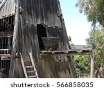 old mine in sovereign hill  ... | Shutterstock . vector #566858035
