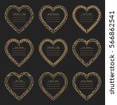 valentine's day vintage gold... | Shutterstock .eps vector #566862541