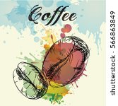 Coffee Beans  Watercolor