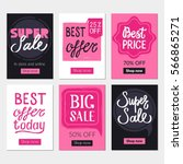 sale banners set and ads web... | Shutterstock .eps vector #566865271