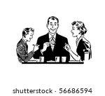 family dining   retro clip art | Shutterstock .eps vector #56686594