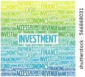investment word cloud  business ... | Shutterstock . vector #566868031