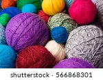 Wool Yarn Ball. Colorful...
