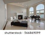 luxury high ceiling living room ... | Shutterstock . vector #566869099