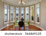 sun filled breakfast nook... | Shutterstock . vector #566869135