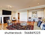 lovely beige family room with... | Shutterstock . vector #566869225