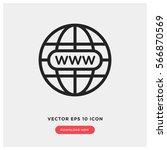 www vector icon  website symbol....   Shutterstock .eps vector #566870569