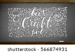vintage poster with lettering... | Shutterstock .eps vector #566874931