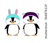 baby penguin. vector flat... | Shutterstock .eps vector #566876119