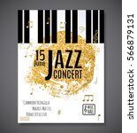 jazz music concert  poster... | Shutterstock .eps vector #566879131