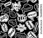 black and white funny seamless... | Shutterstock .eps vector #566888581
