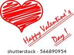 happy valentine's day  heart  ... | Shutterstock .eps vector #566890954