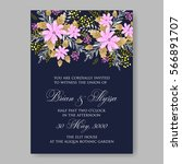 elegance wedding invitation... | Shutterstock .eps vector #566891707