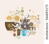 coffee illustration concept...   Shutterstock .eps vector #566892175