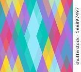 geometric seamless pattern of... | Shutterstock .eps vector #566897497