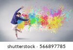 a funky contemporary hip hop...   Shutterstock . vector #566897785