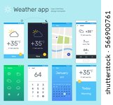 user interface vector template. ...
