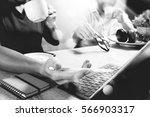 co working website designers... | Shutterstock . vector #566903317