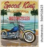 Vintage California Motorcycle...