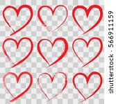 hand drawn hearts on...