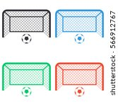 football gates icon   colored... | Shutterstock .eps vector #566912767