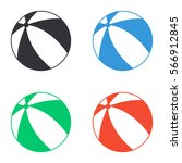 beach ball icon   colored... | Shutterstock .eps vector #566912845