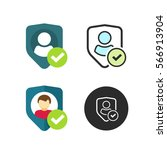 privacy icon vector  flat style ... | Shutterstock .eps vector #566913904
