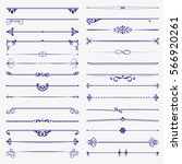 a large set of dividers. vector ... | Shutterstock .eps vector #566920261