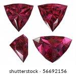 red diamond triangle cut shape... | Shutterstock . vector #56692156