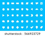 big flat white generic icon... | Shutterstock .eps vector #566923729