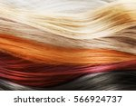 colorful hair background.... | Shutterstock . vector #566924737
