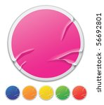 badly pasted stickers | Shutterstock .eps vector #56692801