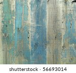 Wall From Wooden Planks With...