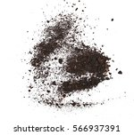 pile dirt isolated on white... | Shutterstock . vector #566937391
