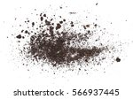 pile dirt isolated on white... | Shutterstock . vector #566937445
