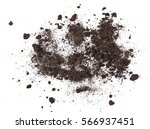pile dirt isolated on white... | Shutterstock . vector #566937451