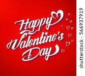 happy valentine's day poster....   Shutterstock .eps vector #566937919