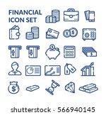 financial icon set. vector | Shutterstock .eps vector #566940145