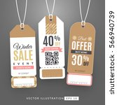 set with sale labels. winter...   Shutterstock .eps vector #566940739