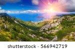 panoramic landscape of budva... | Shutterstock . vector #566942719