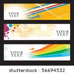 abstract banners on different 2 ... | Shutterstock .eps vector #56694532