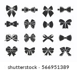 black decorative bows icons set ... | Shutterstock .eps vector #566951389