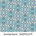 seamless pattern with floral... | Shutterstock .eps vector #566951479