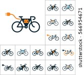 electric bicycle  e bike icons... | Shutterstock .eps vector #566954671