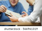 young people work with documents | Shutterstock . vector #566961319