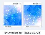 scientific brochure design... | Shutterstock .eps vector #566966725