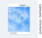 scientific brochure design... | Shutterstock .eps vector #566966821